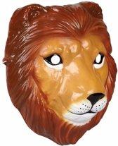 Leeuwen masker 3D plastic 22cm - dieren gezichtsmasker