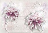 Fotobehang Flower White | XXXL - 416cm x 254cm | 130g/m2 Vlies