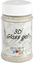 3D Glass Gel, goud, glitter effect, 100ml