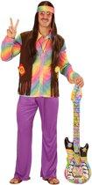 Veelkleurig pastel hippie kostuum voor mannen - Verkleedkleding