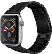 Merkloos RVS bandje - Apple Watch Series 1/2/3/4 (42&44mm) - Zwart