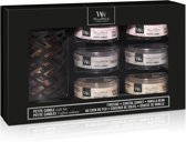 WoodWick Deluxe Gift Set Six Petite Candles & Petite Candle Holder