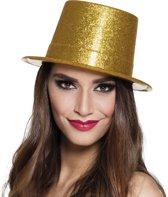 20 stuks: Hoed Glitter - goud