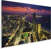 De skyline van Abu Dhabi in de Verenigde Arabische Emiraten met hemel Plexiglas 90x60 cm - Foto print op Glas (Plexiglas wanddecoratie)