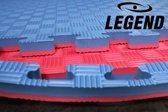 12m2 4CM Blauw/Rood Legend Puzzelmatten sport  Default