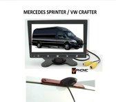 Achteruitrijcamera set Mercedes Sprinter/VW Crafter