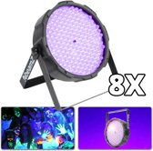 BeamZ Blacklight lichtset met 8 UV LED PAR spots