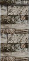 Origin behang marmeren stenen bruin