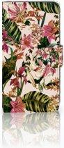 Motorola Moto C Plus Uniek Boekhoesje Flowers