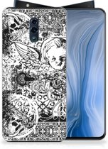 Silicone Back Case OPPO Reno Skulls Angel