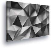 Pattern Abstract Black White Canvas Print 100cm x 75cm