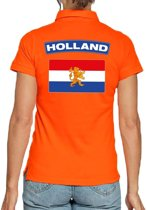 Holland supporter poloshirt oranje voor dames S