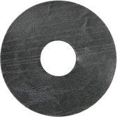 Zelfkl. rozet (17 mm) zwart (10 st.)