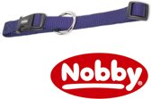 Nobby halsband classic blauw 40-55 x 1 cm - 1 st