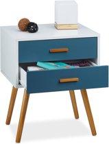 relaxdays - dressoir met lades - retro stijl - sideboard - bijzettafel - kastje