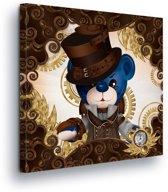 Victorian Bear Canvas Print 80cm x 80cm