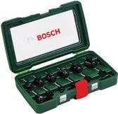 Bosch Houtfrezen - � 8 mm schacht - 12-delig - geschikt voor alle merken