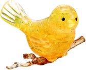 Crystal puzzle 3d puzzel: vogel geel 48-delig