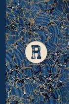 Monogram R Marble Notebook (Blue Ginger Edition)