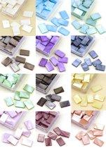 Mozaiek Steentjes Set - 12 Kleuren – 10 x 15mm