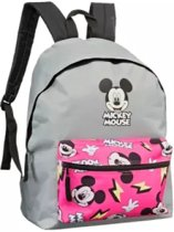 Mickey Mouse Rugzak rugtas  - Grijs / Roze - Polyester -33 x 18 x 40