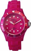 Colori Classic 5 COL003 Horloge - Siliconen Band - Ø 40 mm - Roze