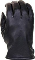Leren officiers handschoenen zwart maat XXL