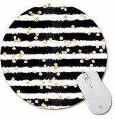 Muismat Dots and Stripes | Muismat Rond | Rubber