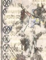 Ballerina And Music Score Notebook