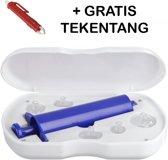 Uitzuigpomp van Versteeg® / Gratis Tekentang / Anti Gifspuit / EHBO Insecten gif / First Aid / Steken / Zwellingen / Jeuk / Gif Pomp