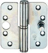Bsw Kogelpaumelle gegalvaniseerd Afgerond rechts - 90 x 90 mm