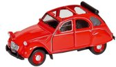 Welly Metalen citroen 2cv: 11,7 cm rood