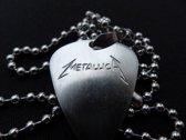 Metallica hand gegraveerde RVS plectrum ketting