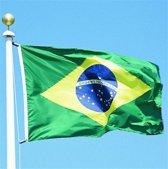 Brazilie Vlag - Braziliaanse Vlag - Flag Brasil - Brazil 90 x 150 cm