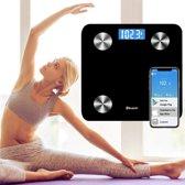 Eyzo Bluetooth Weegschaal | Bereken Gewicht, BMI, Lichaamsvet, Spiermassa, en nog veel meer!