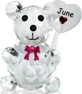Kristalglas beer geboorte maand juni