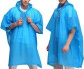 Duo Pack Blauwe Lichtgewicht Regenponcho met Witte Koord - 2 Stuks | Poncho | Regen | Regenjas | Regenkleding | Koordjes Wit | Blauw