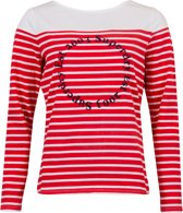 Superdry T-shirt - Vrouwen - rood/wit