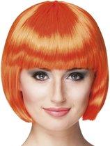 8 stuks: Pruik Cabaret - Oranje