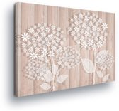 Floral White Canvas Print 100cm x 75cm