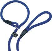 Nobby fun retriever lijn lijn en halsband in 1 blauw 0,9 x 170 cm - 1 st