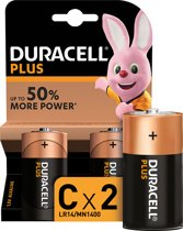Duracell Plus Power C batterijen - 2 stuks