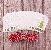ProductGoods - 50 luxe kleine kerst en nieuwjaar kaarten - Peace & Joy
