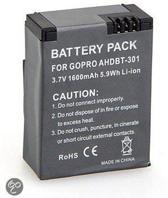 Herlaadbare Batterij geschikt voor GoPro Hero 3/3+