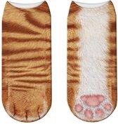 3- D poezenpoot korte FUN sokken Garfield