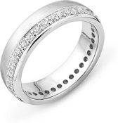 Majestine 925 Zilveren Ring met Zirkonia maat 52