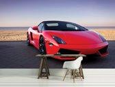 Fotobehang Auto | Rood | 152,5x104cm