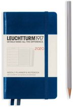 Leuchtturm agenda 2020 soft pocket 7d2p navy blue 9x 15 cm