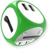 Cadyce Universele Reislader  Universeel  2x USB 3.0 poorten  Fast Charging  Geschikt voor meer dan 140 landen  Europa / Verenigd Koninkrijk  / Verenigde Staten / Australië  Groen