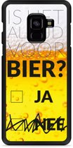 Galaxy A8 Plus 2018 Hardcase Hoesje Is het al tijd voor bier?